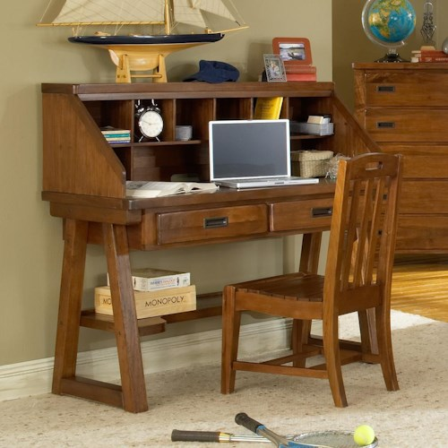 American Woodcrafters Heartland  Child's Desk w/ Hutch