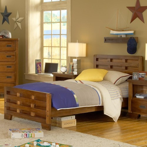 American Woodcrafters Heartland  Twin Bed Headboard & Footboard Bed