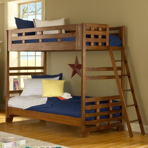 American Woodcrafters Heartland  Twin Over Twin Bunk Bed