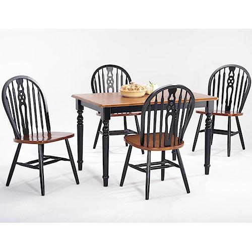 Amesbury Chair Creations II Rectangular Table w/ 4 Side Chairs