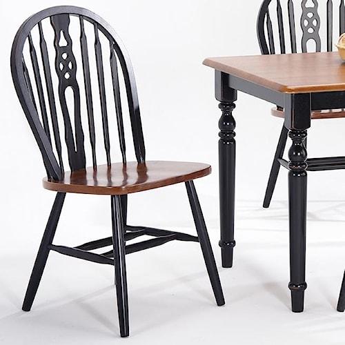 Amesbury Chair Creations II Wagon Wheel Side Chair