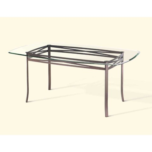 Amisco Transitions Rose Table base and Glass Top