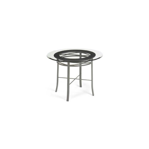 Amisco Transitions Carly Table Base and Glass Tabletop