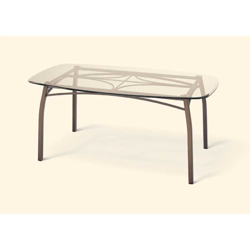Amisco Transitions Pat Table Base and Glass Tabletop