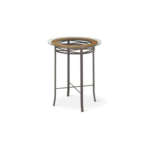 Amisco Transitions Carly Pub Table Base and Glass Tabletop