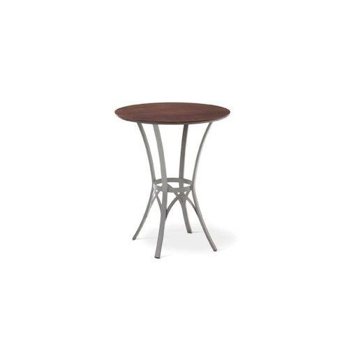 Amisco Transitions Kai Pub Table Base and Maple Veneer Tabletop