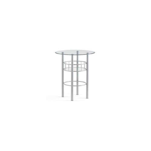 Amisco Transitions Eve Pub Table Base and Glass Tabletop
