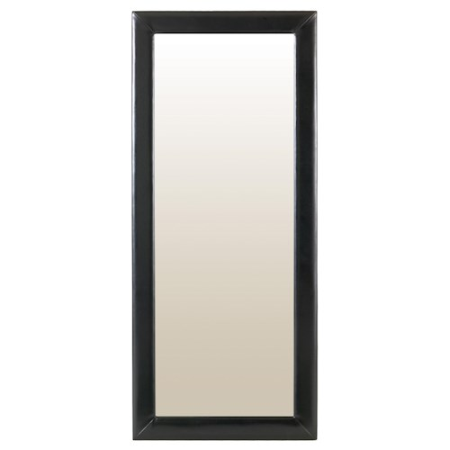 Amisco Accents Delaney Rectangular Floor Mirror with Upholstered Frame