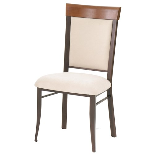 Amisco Countryside Eleanor Contemporary Dining Room Side Chair with Upholstered Seat and Back