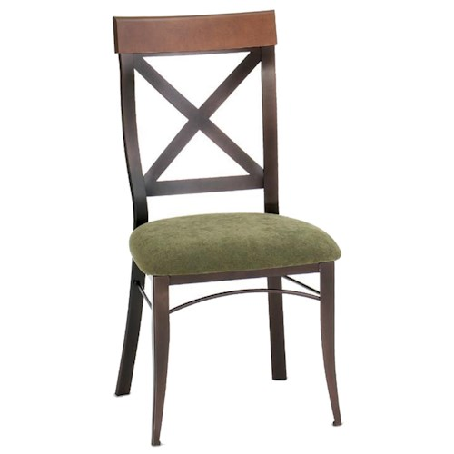 Amisco Countryside Kyle Kitchen Side Chair in Rustic Country Style