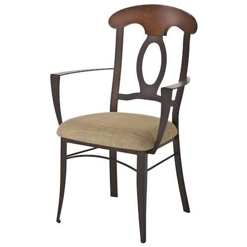 Amisco Countryside Cynthia Dining Room Chair with Cottage Styled Splat Back