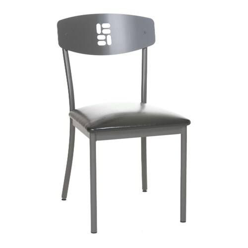 Amisco Dinettes Amisco Domino Contemporary Side Chair with Pierced Rectangular Back