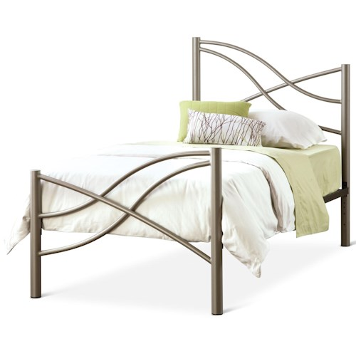 Amisco Eco Twin Nina Bed with Organic Metal Headboard and Footboard
