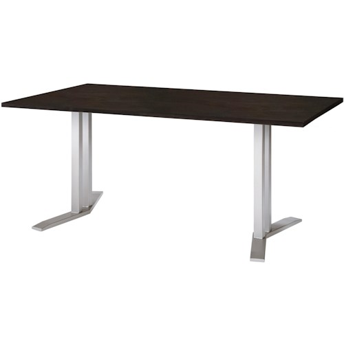 Amisco Eco Grant Counter Height Table with Birch/Walnut Top