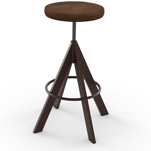 Amisco Industrial Uplift Adjustable Height Stool with Steel Frame