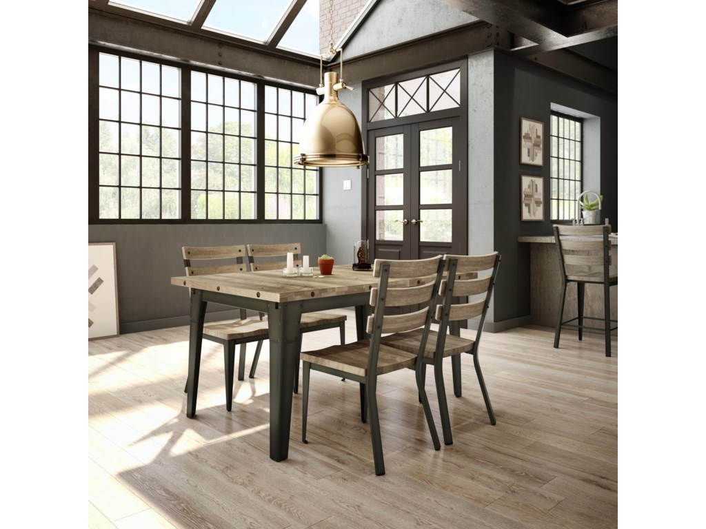 Industrial Extending Dining Table Amisco Industrial Tacoma Extendable Table Furniture And