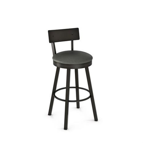 Amisco Stools Lauren Swivel Bar Stool with Cushioned Seat