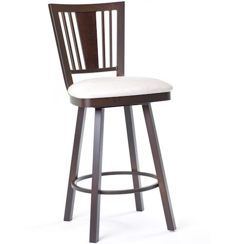Amisco Stools Cottage Madison Counter Height Swivel Stool with Spindle Back