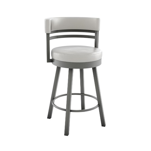 Amisco Stools Ronny Contemporary Swivel Bar Stool