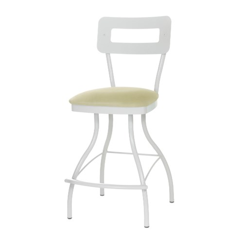 Amisco Stools Cora Contemporary Swivel Counter Stool with Splayed Legs