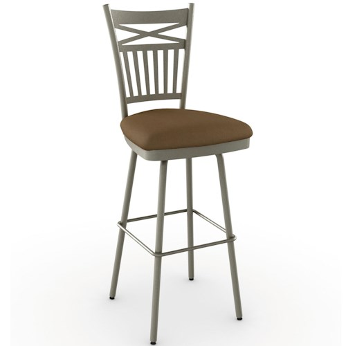 Amisco Stools Cottage Garden Bar Stool with Spindle Back with X Design