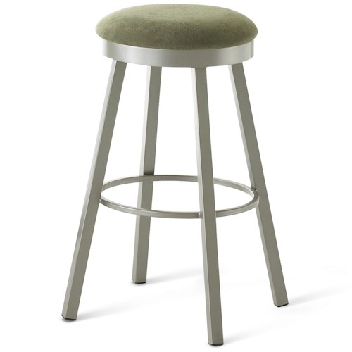Amisco Stools Contemporary Connor Bar Stool with Metal Base