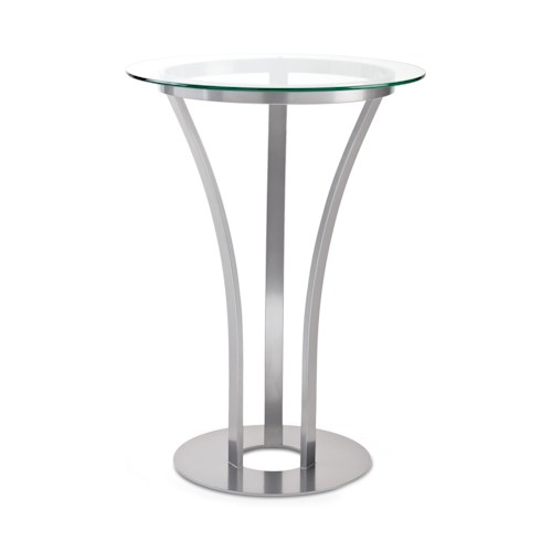 Amisco Tables Amisco Dalia Counter Height Table with Round Glass Top