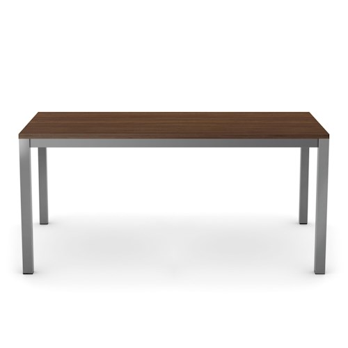 Amisco Customizable Dining Ricard-Wood Dining Table with Metal Base