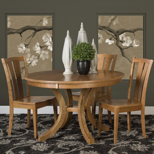 Morris Home Furnishings Charleston 5 Piece Dining Set with Splat Back Chairs