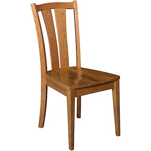 Morris Home Furnishings Charleston Sedona Side Chair with Splat Back