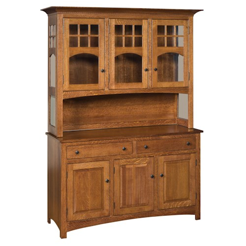 Morris Home Furnishings Classic 2-Drawer Dining Buffet with 3-Door Hutch