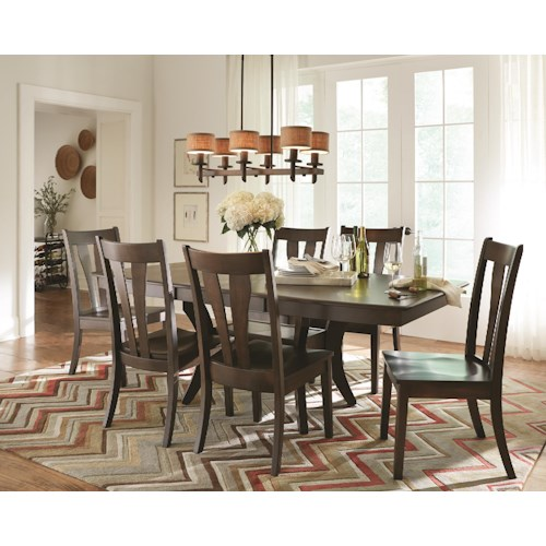 Morris Home Furnishings Covina Solid Maple 5-Piece Dining Set