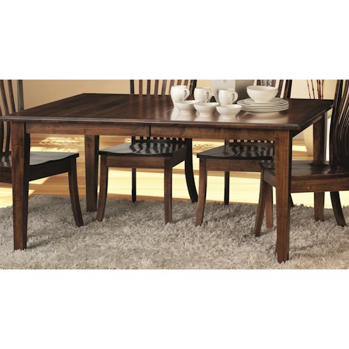 Morris Home Furnishings Crescent-1 Dining Table Top & Base