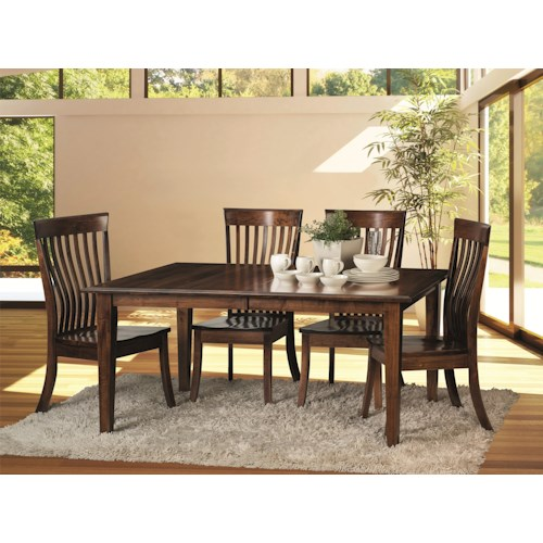 Morris Home Furnishings Crescent-1 5 Piece Dining Room Set