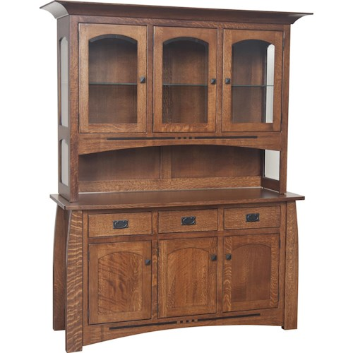 Morris Home Furnishings Hayworth 3-Door Buffet with Hutch