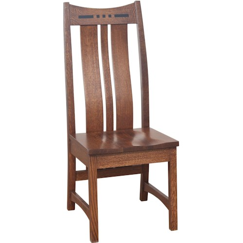 Morris Home Furnishings Hayworth Dining Side Chair with Shaped Splat Back