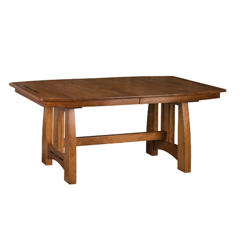 Morris Home Furnishings Hayworth Trestle Dining Table with 4 12