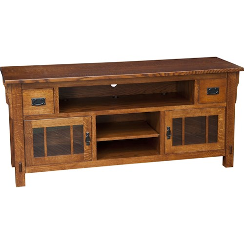Morris Home Furnishings Medallion Medallion Large TV Cabinet with Dovetail Drawers