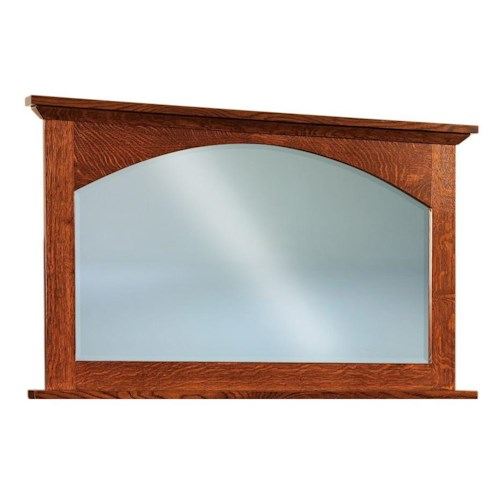Morris Home Furnishings Savannah Arched Dresser Mirror with Wood Frame