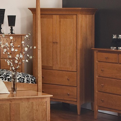 Morris Home Furnishings Santa Fe Armoire with 2-Door Cabinet and 2 Drawers