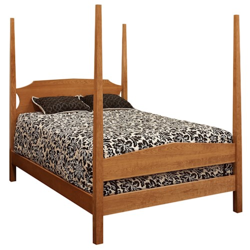 Morris Home Furnishings Santa Fe Twin Poster Bed with Tapered Posts