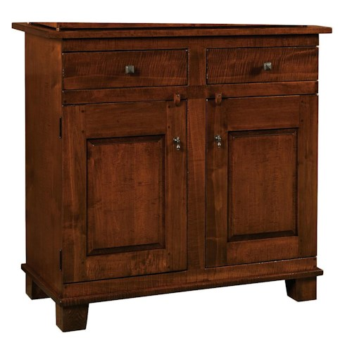 Morris Home Furnishings Wellington 2-Drawer Buffet with 2-Door Cabinet