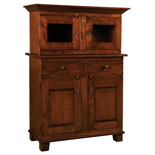 Morris Home Furnishings Wellington 2-Drawer Buffet with 2-Door Cabinet and Hutch