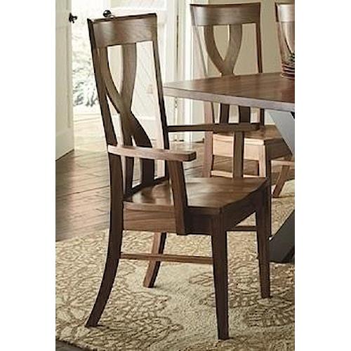 Morris Home Furnishings Xander Dining Arm Chair