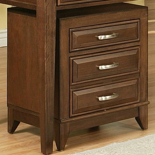 APA by Whalen Albany 2 Drawer File Cabinet with Tapered Feet