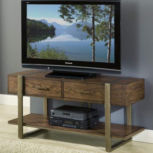 APA by Whalen Mason Wood and Metal TV Console with 2 Drawers and 1 Shelf
