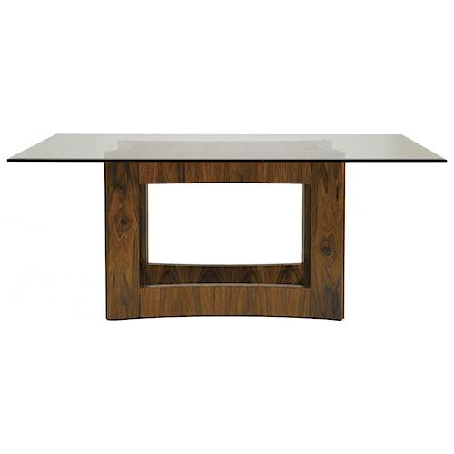Aquarius Aquarius Domain Dining Table with Rosewood Geometric Base