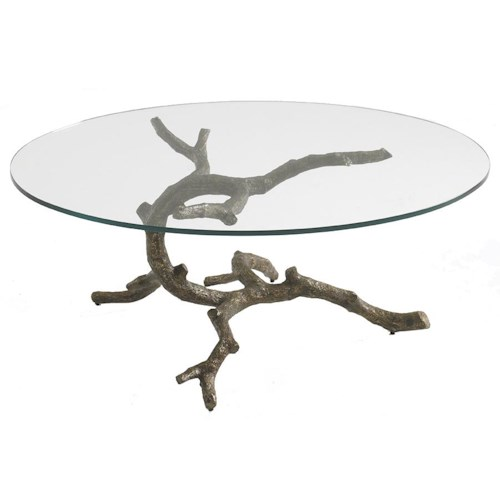 Aquarius Aquarius Lone Cypress Cocktail Table with Branch Shaped Base