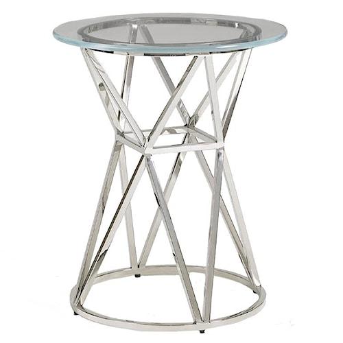 Aquarius Aquarius Apex Accent Table with Hourglass Shaped Base