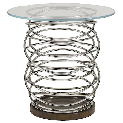 Aquarius Aquarius Architype Lamp Table with Stainless Steel Tubing